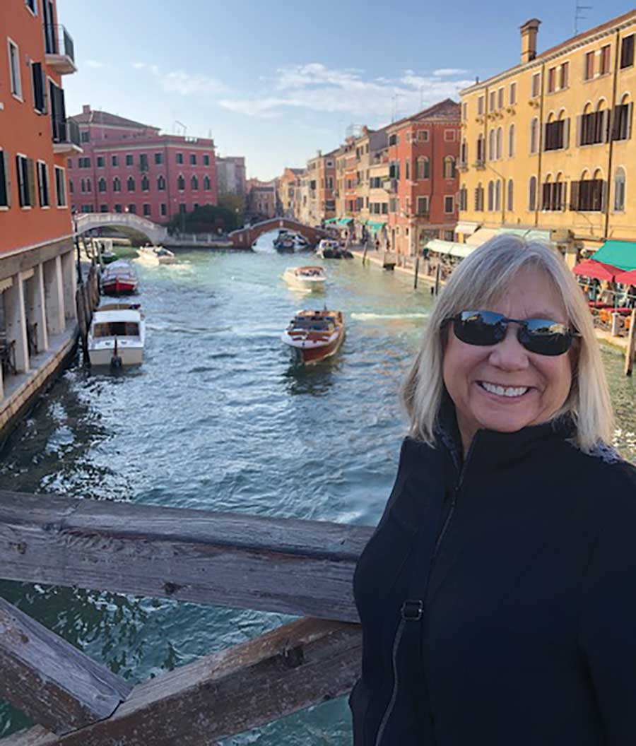 Cindy Steffes in Venice.